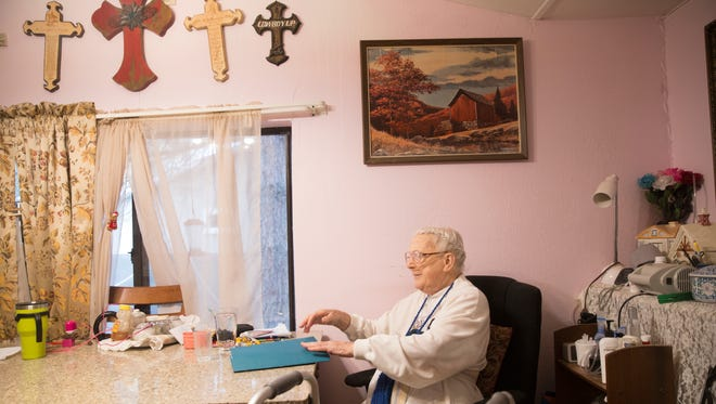 Horizon Home Health Care client Charlene Kennedy sits at her home on Nov. 17 in Bloomfield.