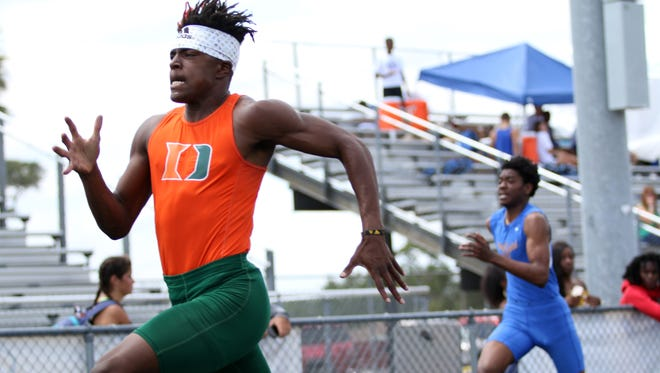 Athletes compete in the District 2A-12 meet at Immokalee High School on Thursday.