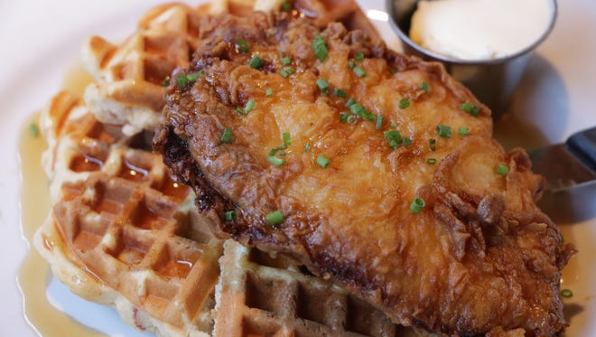 Buttermilk chicken waffles from The Shannon Rose.