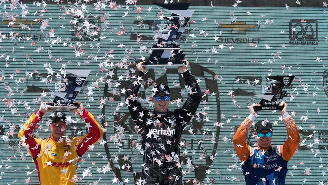 Josef Newgarden will try to repeat as IndyCar winner at Road America during the REV Group Grand Prix on June 23.