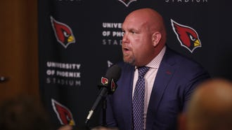 Cardinals GM Steve Keim talks about the decision to trade up and draft Josh Rosen with the 10th pick in the NFL draft at the Cardinals Training Facility in Tempe, Ariz. on April 26, 2018.