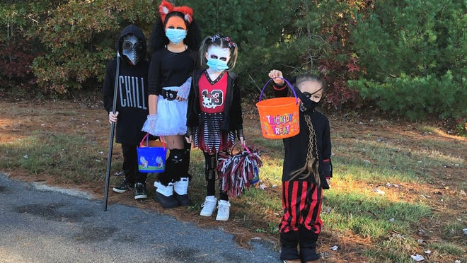 This crew knows how to trick or treat.