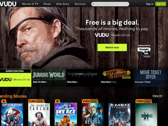 Streaming service Vudu has begun offering ad-supported