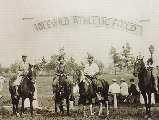 An undated photo taken at the Idlewild Athletic Field