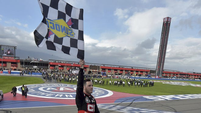 Alex Bowman is now a two-time NASCAR winner after holding off Kyle and Kurt Busch to take the checkered flag in Fontana.