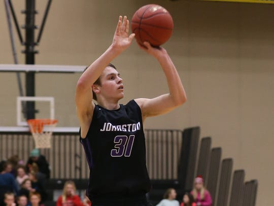 Johnston Dragons Camden Vander Zwaag shoots a jump