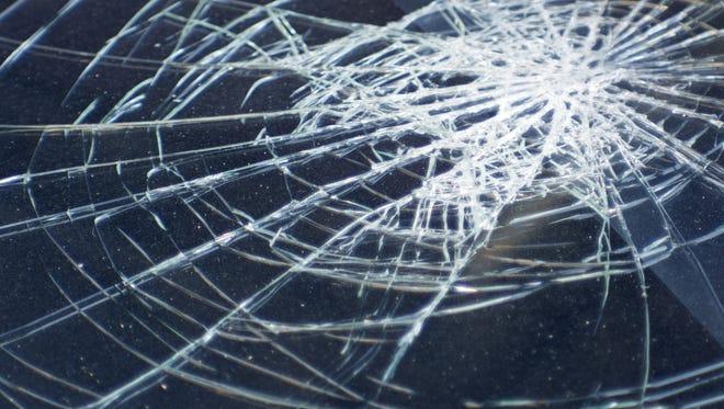 Broken glass in car