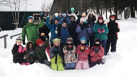 Winter campers at Cayuga Nature Center are bundled up and ready to discover the season.
