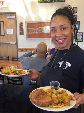 Head to Breaking Bread Cafe, just north of downtown, for breakfast, lunch, a sunny atmosphere and friendly service.