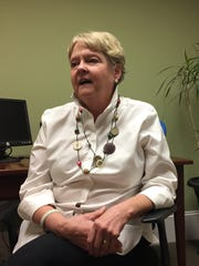 CASA Advocate Manager Mary Kivlighan in her office at CASA for Children in Staunton on Wednesday, May 3, 2017.
