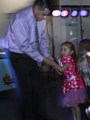 Steve Connor and daughter Emersyn hit the floor.