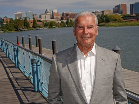 Mike Purzycki stands along the Wilmington Riverfront.