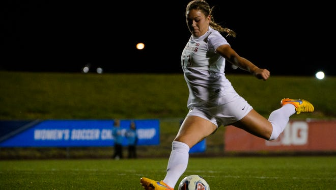 Madison Tiernan scored twice as Rutgers defeated Harvard in the first round of the NCAA Tournament.