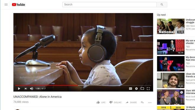 An ASU professor appeared in a viral video depicting immigrant children in court.
