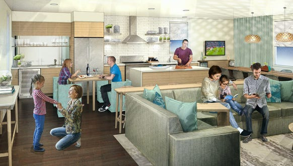 Marriott will add suites with communal living rooms