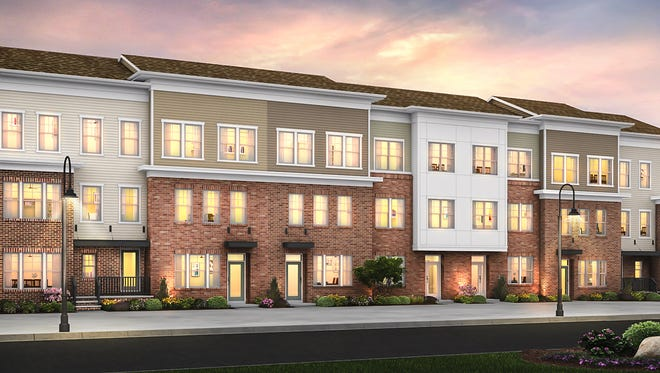 """North Brunswick's new transit village will include these luxury townhomes from Pulte Homes. The rents are not modest enough to be considered """"affordable."""""""