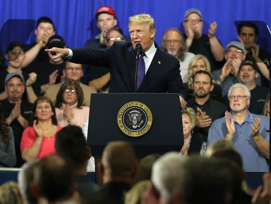 USP NEWS: PRESIDENT TRUMP VISITS CINCINNATI A USA OH
