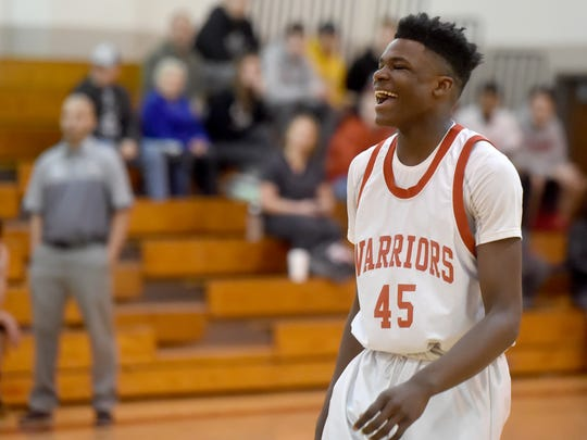 """""""He's always smiling and get a lot more joy out of playing basketball when he plays at Susquehannock,"""" said Horace Walker of his son, Jarace, 14.  """"It's a lot less pressure. He's having a lot of fun playing."""" Jarace, an eighth grader at Southern Middle School, is a national Top 10 prospect for his age group"""