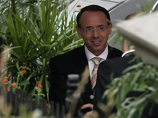 Deputy Attorney General Rod Rosenstein Arrives At The White House