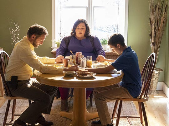 "Josh Lucas, left, Chrissy Metz, and Marcel Ruiz in ""Breakthrough."""