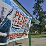 Peter Frampton and Buddy Guy have canceled their Oval Park concert set for next week in Visalia.