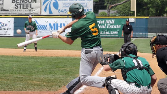 Lakeland pitcher Joey Vetrano bats during  the the