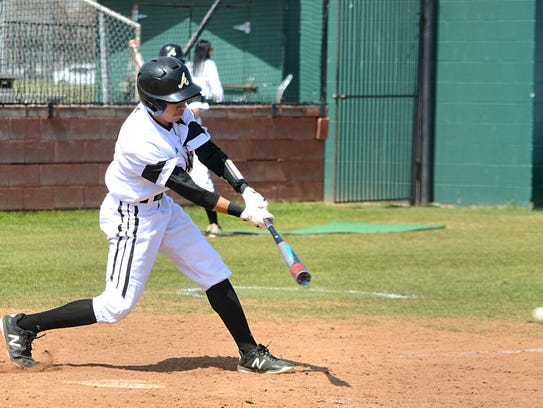 Abilene High second baseman Marcus Romero grounds out