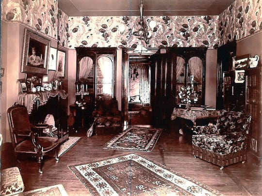 The interior of the W.B. Maccracken home at 201 E. Main St. is shown in this undated photo. They resided here from 1893-1901.