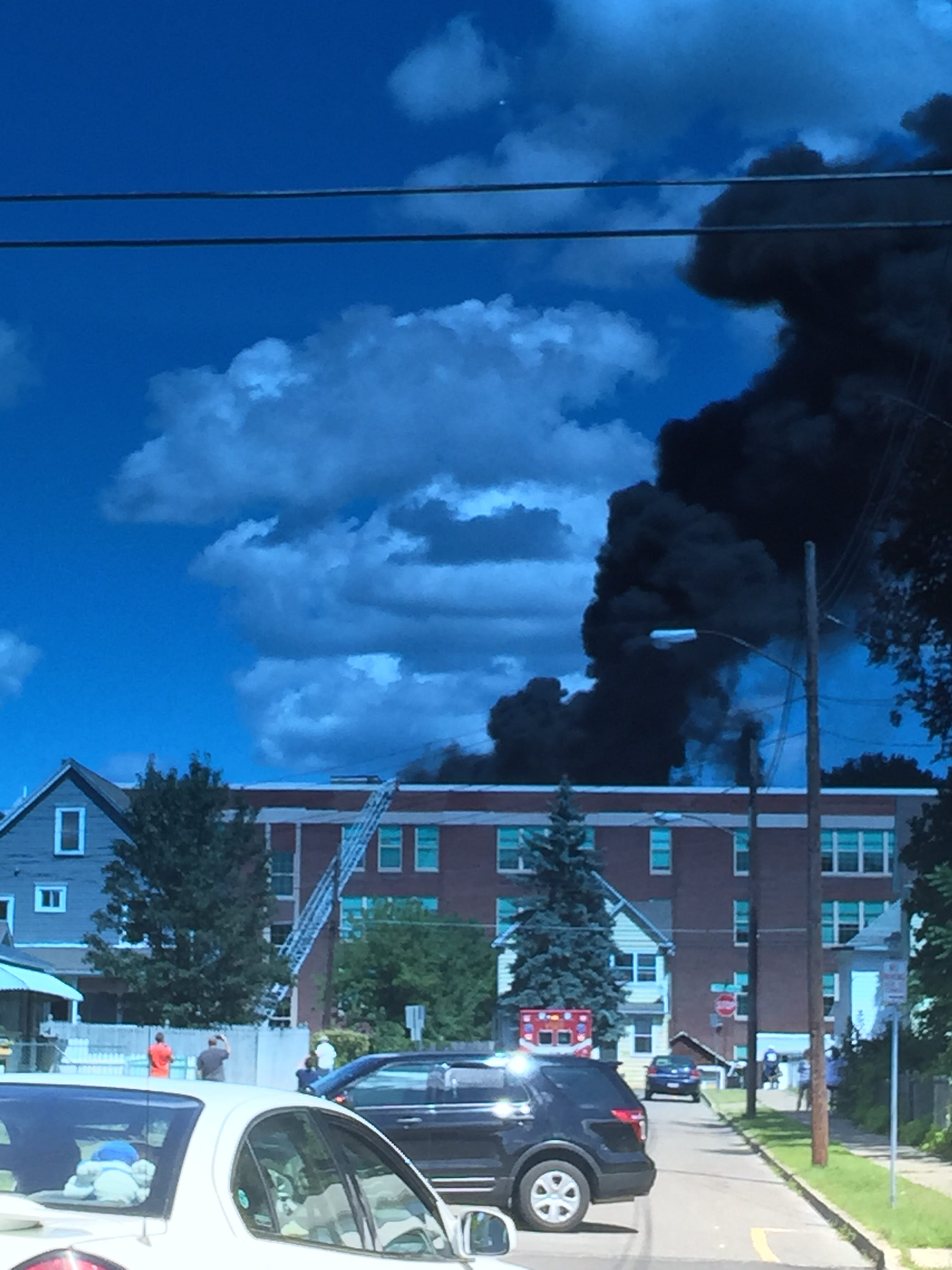 Fire damages Binghamton apartment complex