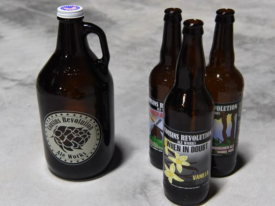 A few of the products made at Cousins Ale Works.