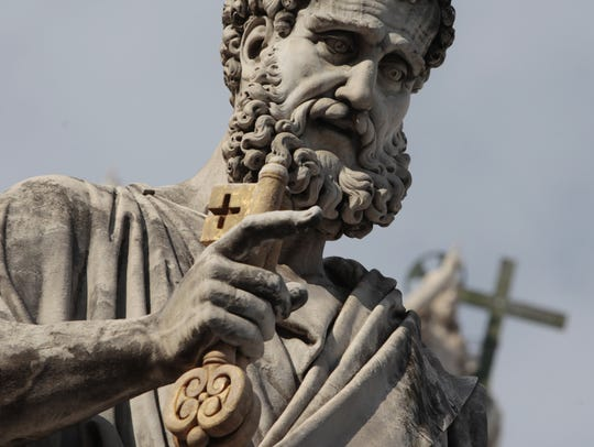 The St. Peter statue at the Vatican.