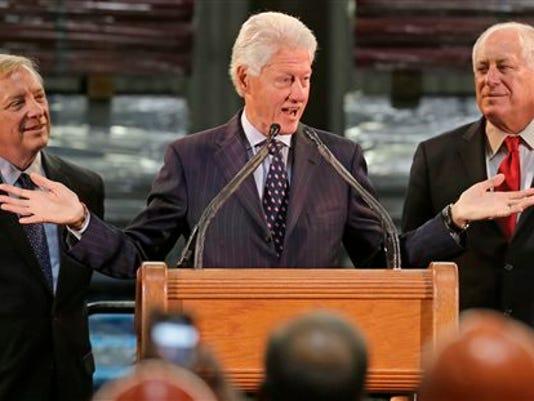 Bill Clinton, Pat Quinn, Dick Durbin