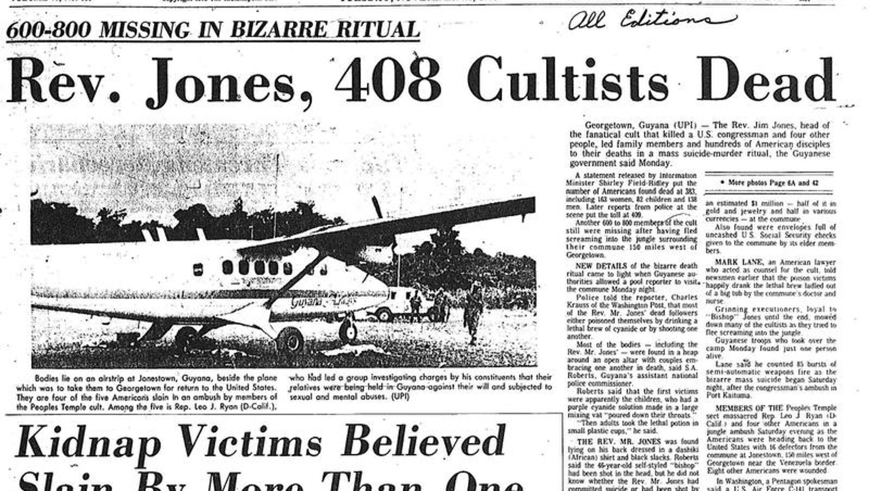 1978 jonestown massacre hit home for indiana boyhood