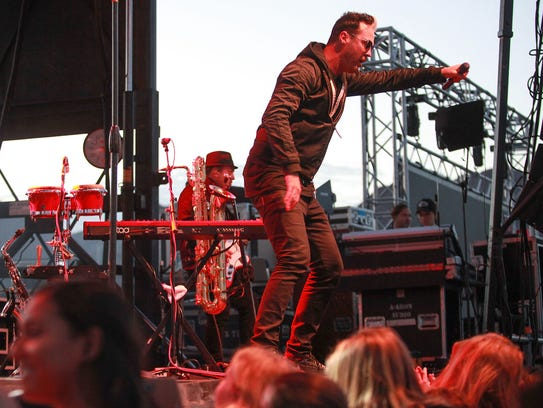 Fitz and the Tantrums play at PGA West during the CareerBuilder