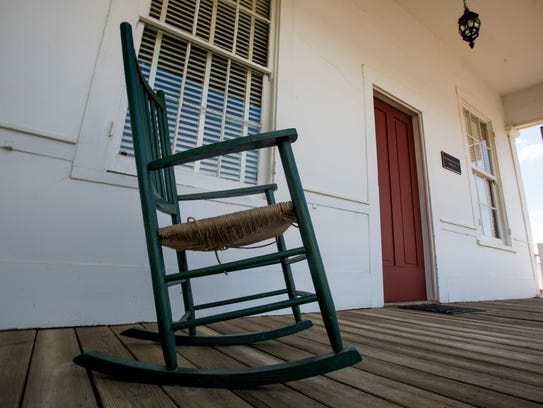 The front porch of the old law office of Benjamin M.
