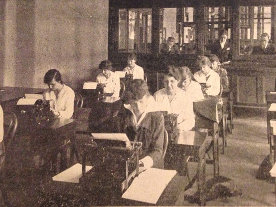 Secretarial and business classes were offered in the