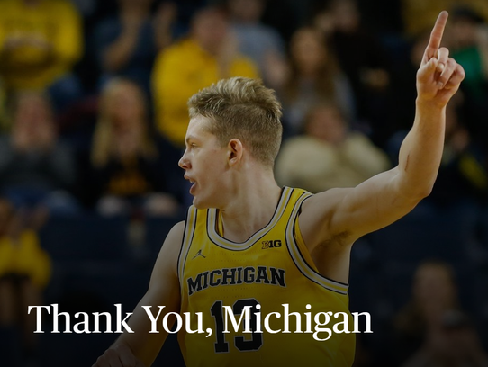 Michigan's Moritz Wagner made the announcement via