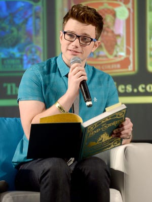 Actor/author Chris Colfer, in Los Angeles last October, has wrapped up his best-selling kids' book series.