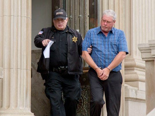 Jeffrey Horton was escorted out of Tompkins County Court in June, 2016, after being found guilty of rape, burglary and several other charges.