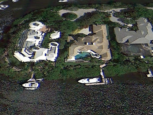 Homes near Bonita Bay Marina on Marina Point are some of the largest and most elaborate in Bonita Springs.