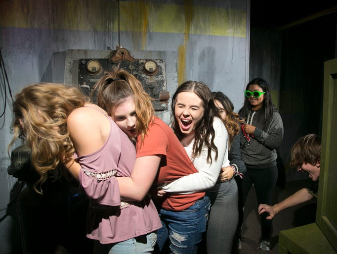 People react to scares, frights and startles at the