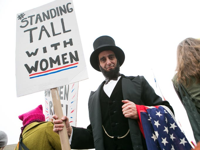 New York City resident Peter Straus, dressed as Abraham