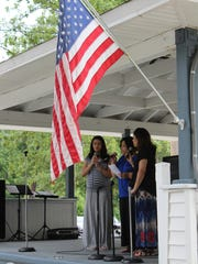"Pentecostal Assemblies of God Church's Acapella Choir perform ""Amazing Grace"" during the interfaith service held at Hammonton Lake Park on the Fourth of July."