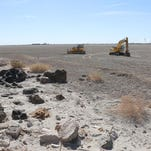 The Red Hill Bay restoration project at the Salton Sea aims to cover 420 acres of exposed lakebed with wetland habitat.