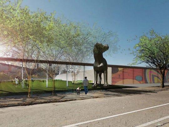 Conceptual showing potential dog park.