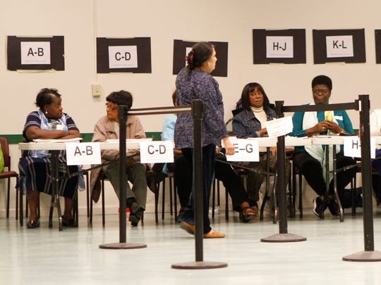 East Ramapo school district residents cast votes for the school district budget and school board members at the Louis Kurtz Civic Center in Spring Valley on Tuesday, May 17, 2016.