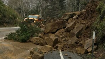 Slides closes Highway 101 south of Cannon Beach