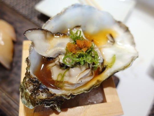 Miyagi oyster at Sushi Nakano in Phoenix, AZ.
