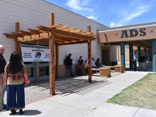 The beautification project was started by late Academy Del Sol teacher Glennon Cates, who built a bridge in front of the school before he passed away. Staff and students continued his legacy by building the Legends Garden.
