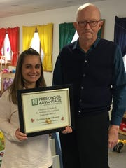 Preschool Advantage awarded its Golden Acorn Award